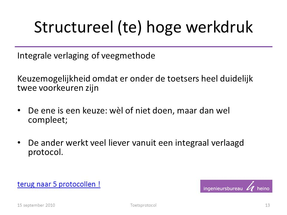 Structureel (te) hoge werkdruk