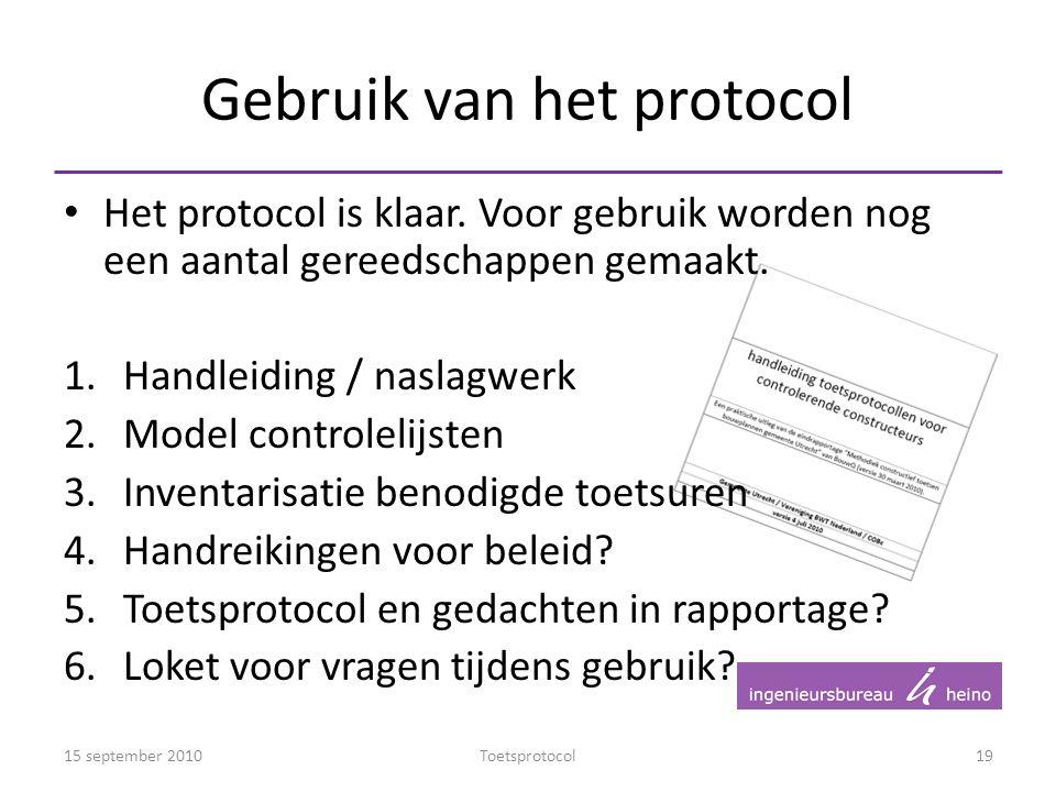 Gebruik van het protocol