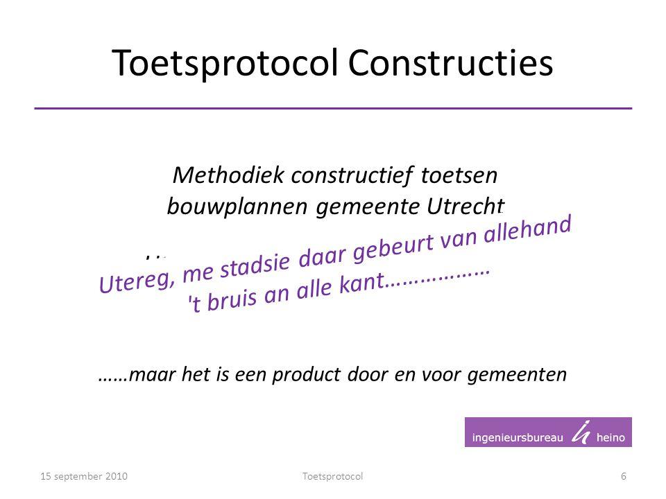 Toetsprotocol Constructies