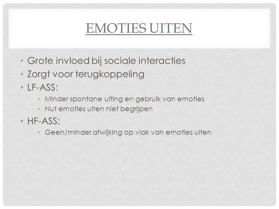 Emoties uiten Grote invloed bij sociale interacties