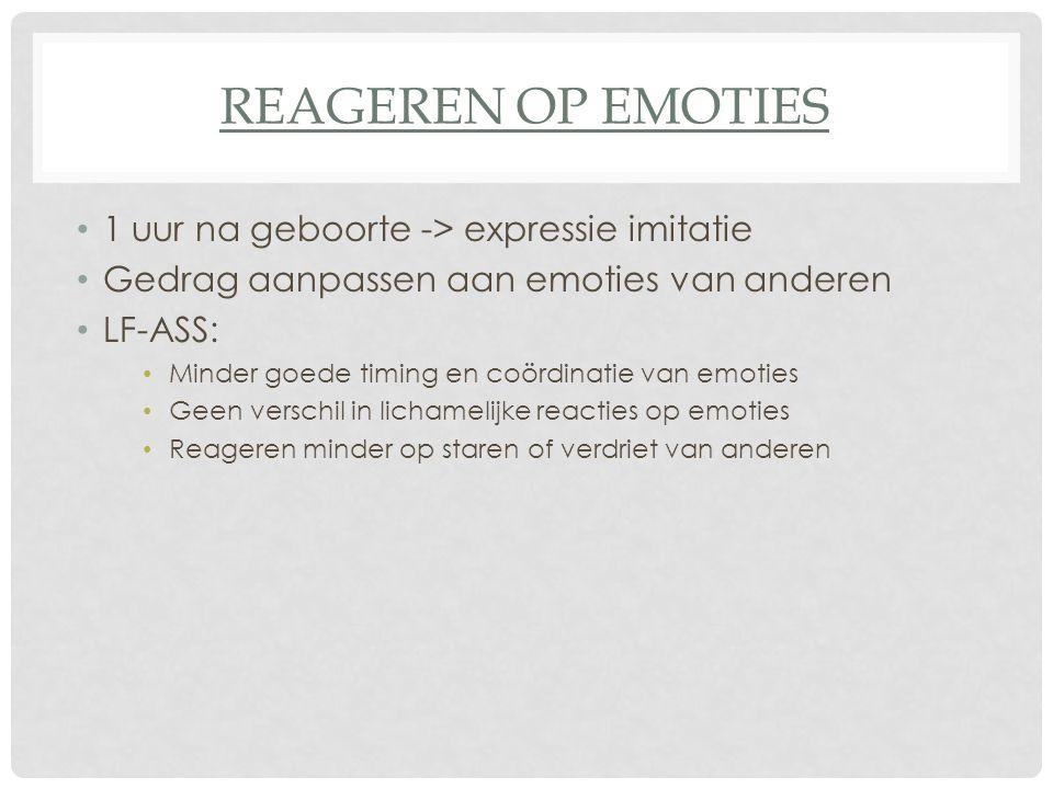 Reageren op emoties 1 uur na geboorte -> expressie imitatie