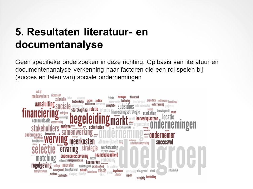 5. Resultaten literatuur- en documentanalyse