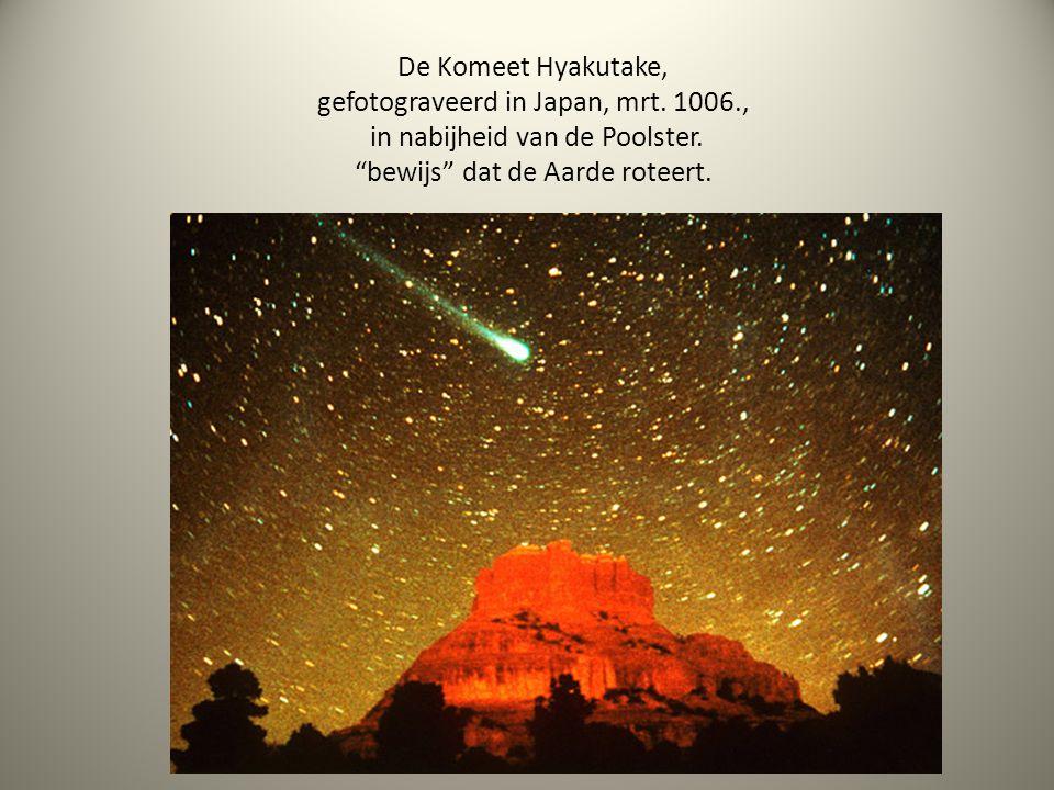De Komeet Hyakutake, gefotograveerd in Japan, mrt. 1006