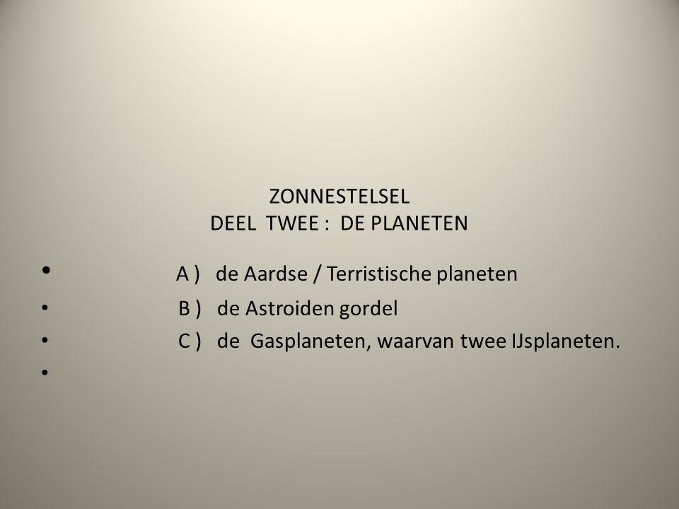 ZONNESTELSEL DEEL TWEE : DE PLANETEN