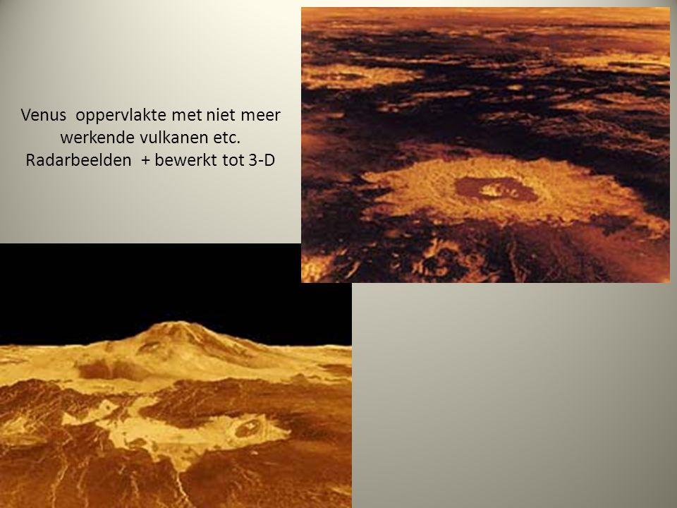 Venus oppervlakte met niet meer werkende vulkanen etc