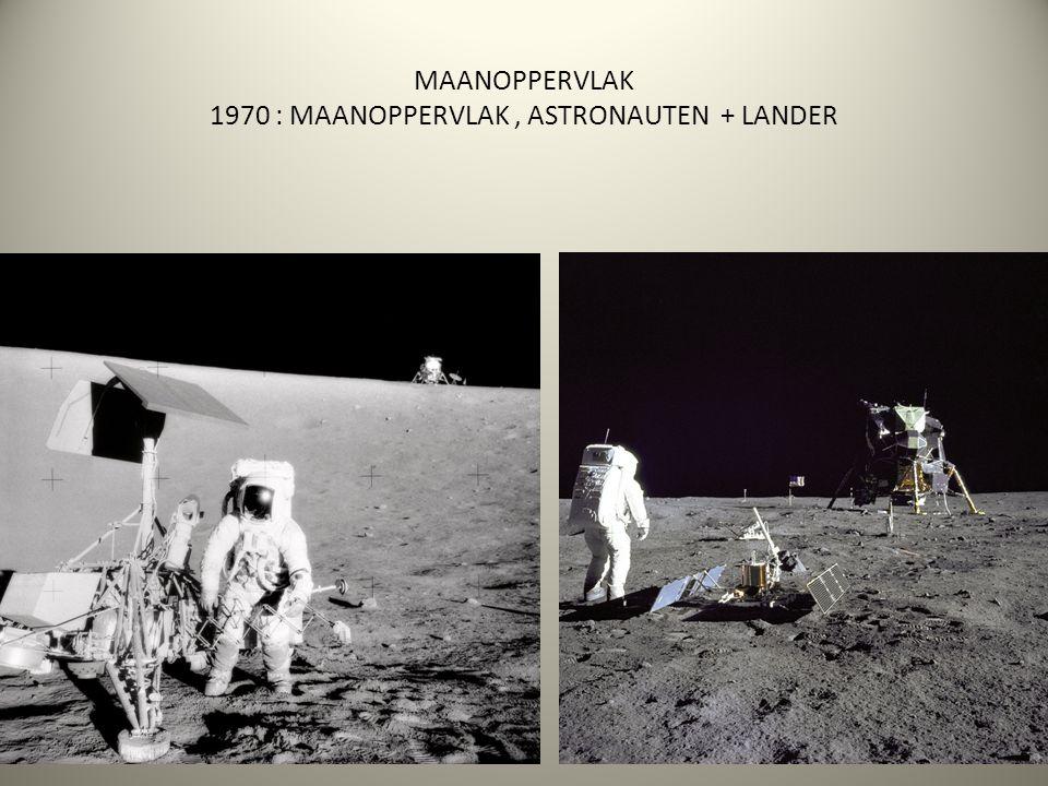 MAANOPPERVLAK 1970 : MAANOPPERVLAK , ASTRONAUTEN + LANDER