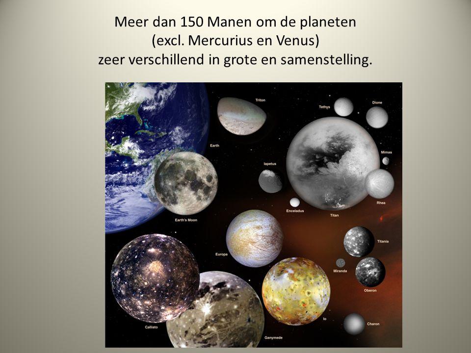 Meer dan 150 Manen om de planeten (excl