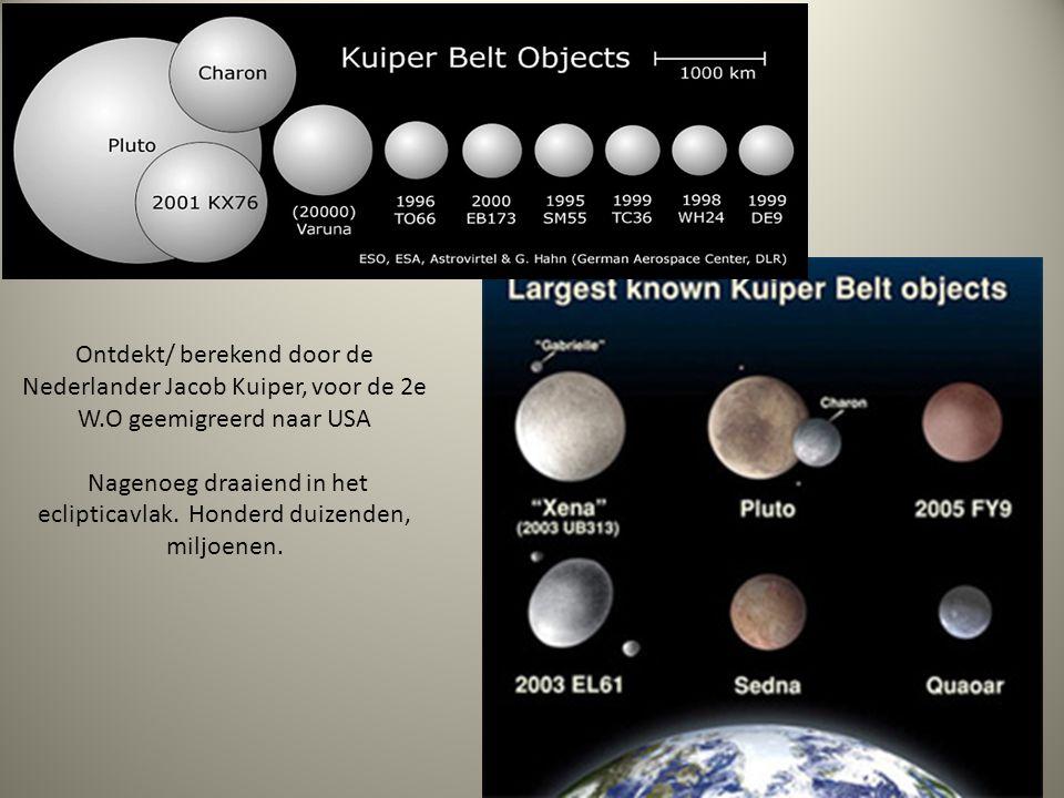 Ontdekt/ berekend door de Nederlander Jacob Kuiper, voor de 2e W