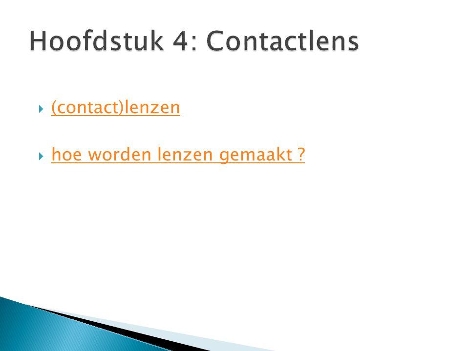 Hoofdstuk 4: Contactlens