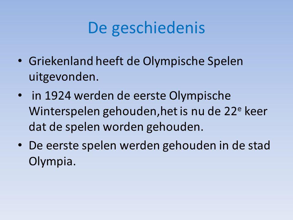 De geschiedenis Griekenland heeft de Olympische Spelen uitgevonden.
