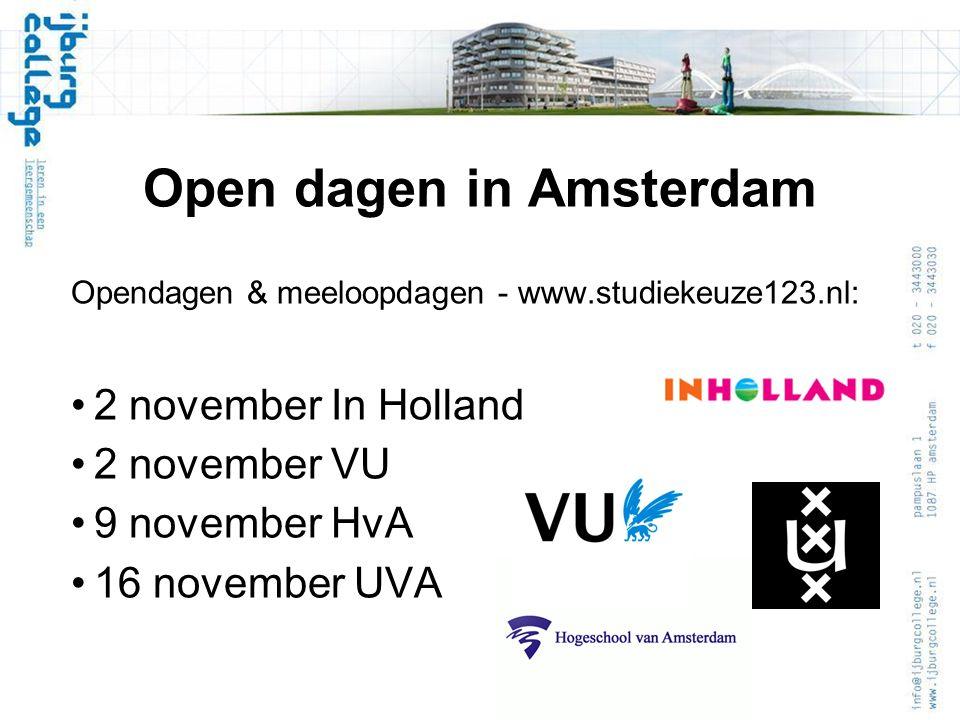 Open dagen in Amsterdam