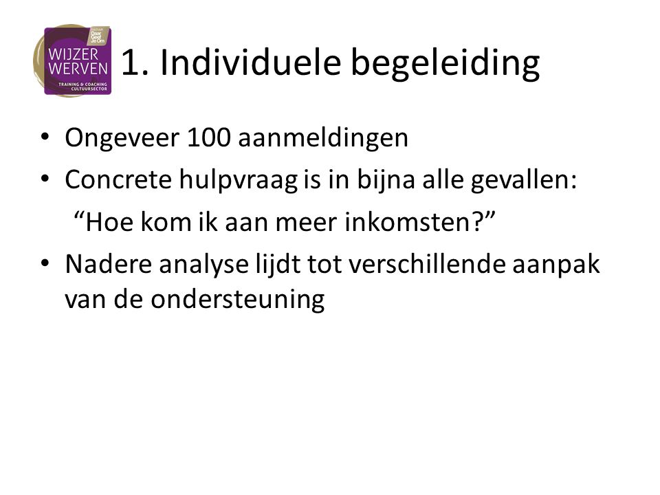 1. Individuele begeleiding