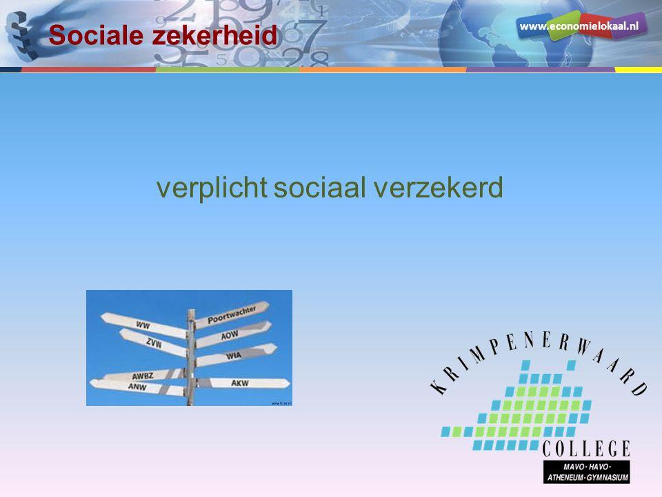 verplicht sociaal verzekerd