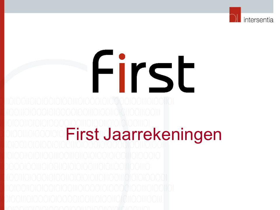 First Jaarrekeningen