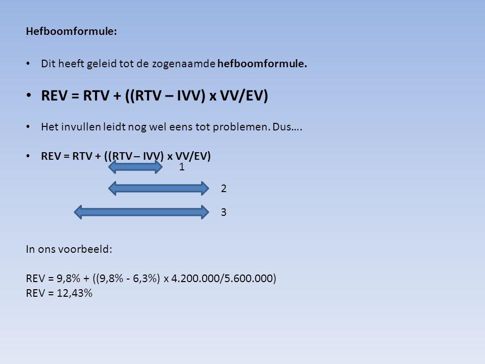 REV = RTV + ((RTV – IVV) x VV/EV)
