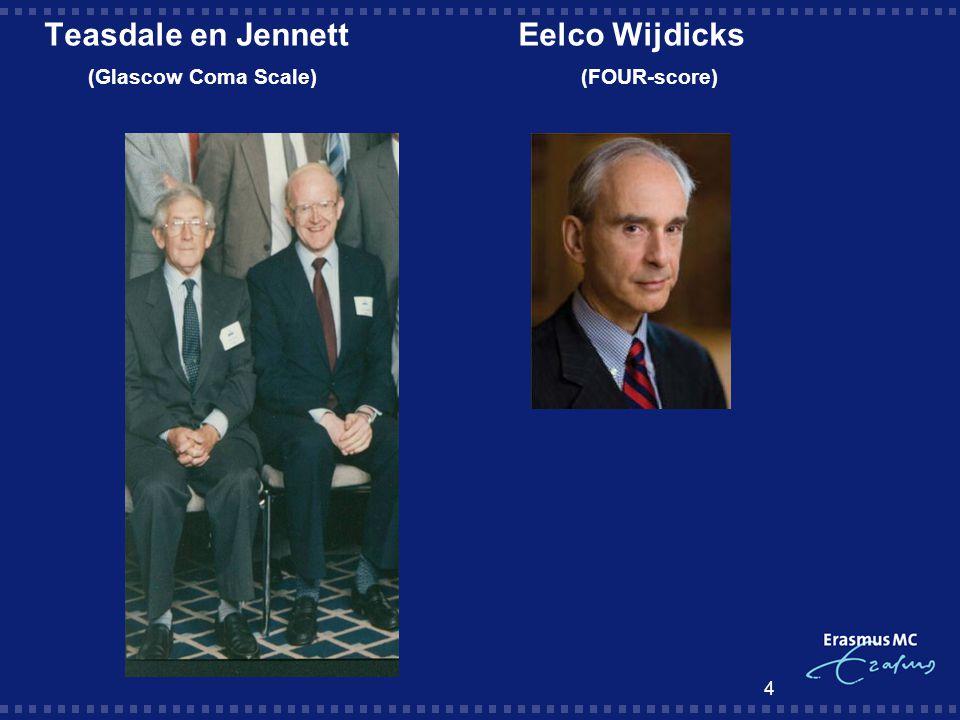 Teasdale en Jennett Eelco Wijdicks (Glascow Coma Scale) (FOUR-score)