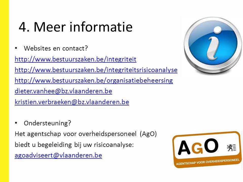 4. Meer informatie Websites en contact