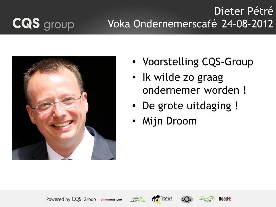 Dieter Pétré Voka Ondernemerscafé 24-08-2012