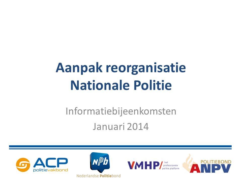 Aanpak reorganisatie Nationale Politie