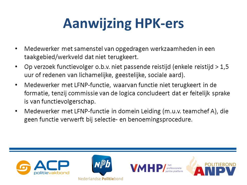 Aanwijzing HPK-ers Medewerker met samenstel van opgedragen werkzaamheden in een taakgebied/werkveld dat niet terugkeert.