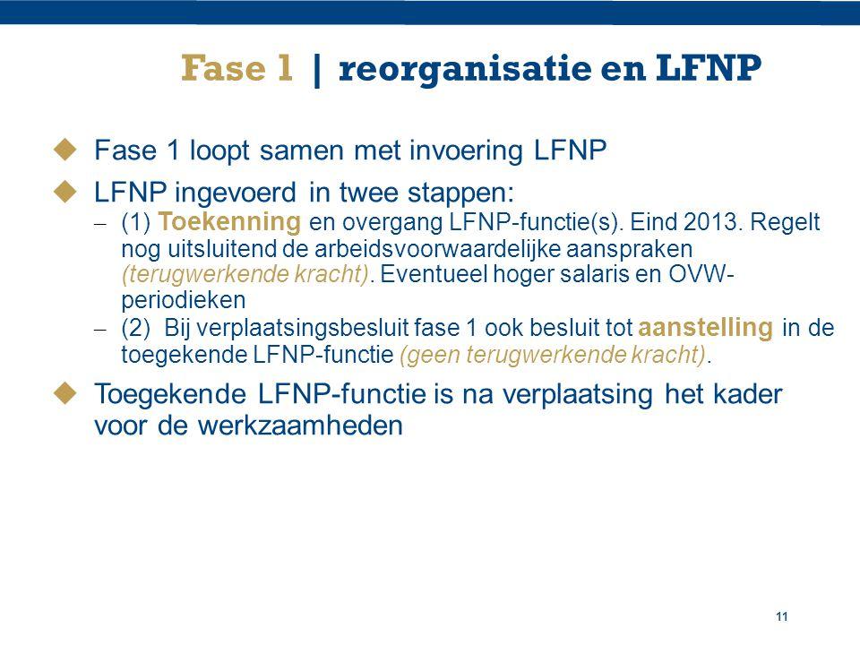 Fase 1 | reorganisatie en LFNP