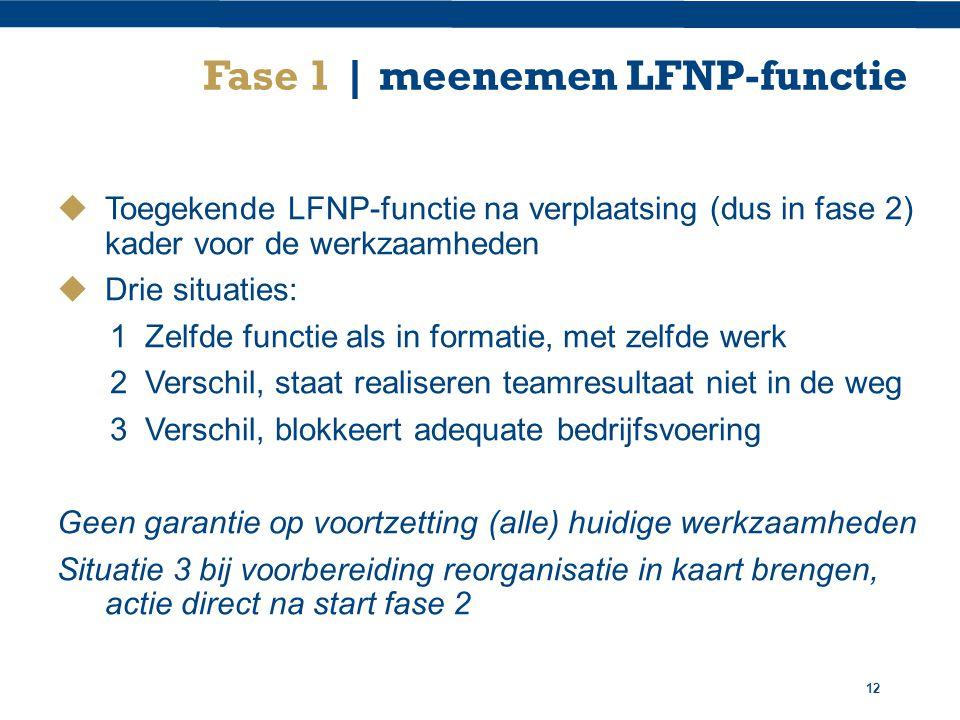 Fase 1 | meenemen LFNP-functie
