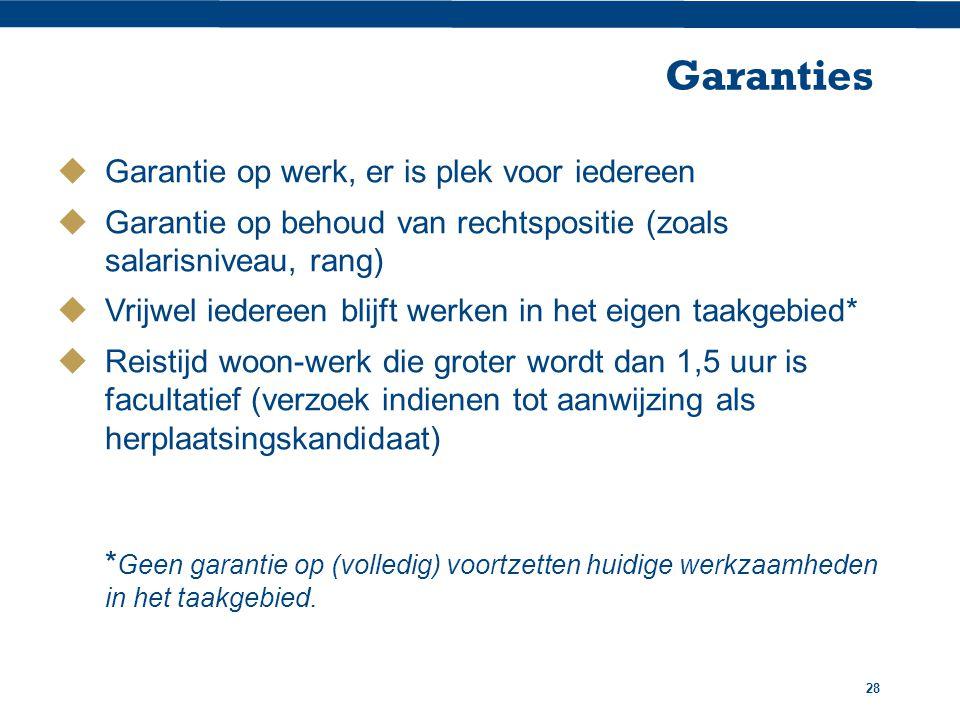 Garanties Garantie op werk, er is plek voor iedereen