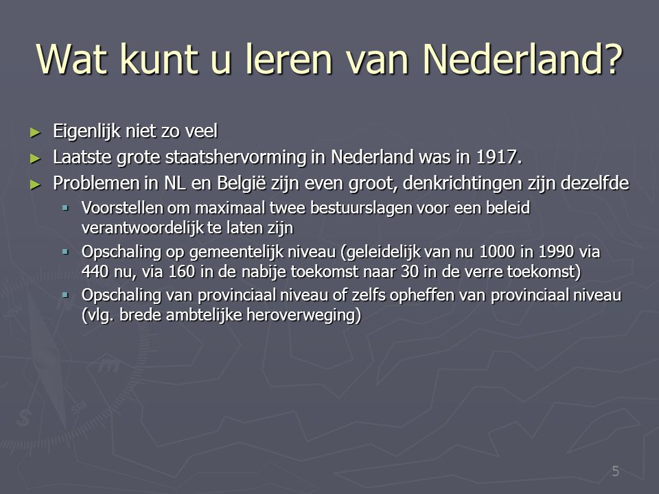 Wat kunt u leren van Nederland