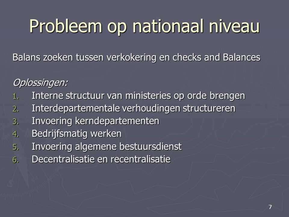 Probleem op nationaal niveau