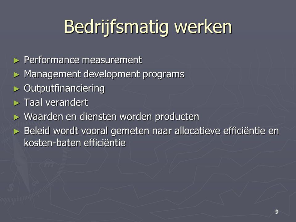 Bedrijfsmatig werken Performance measurement