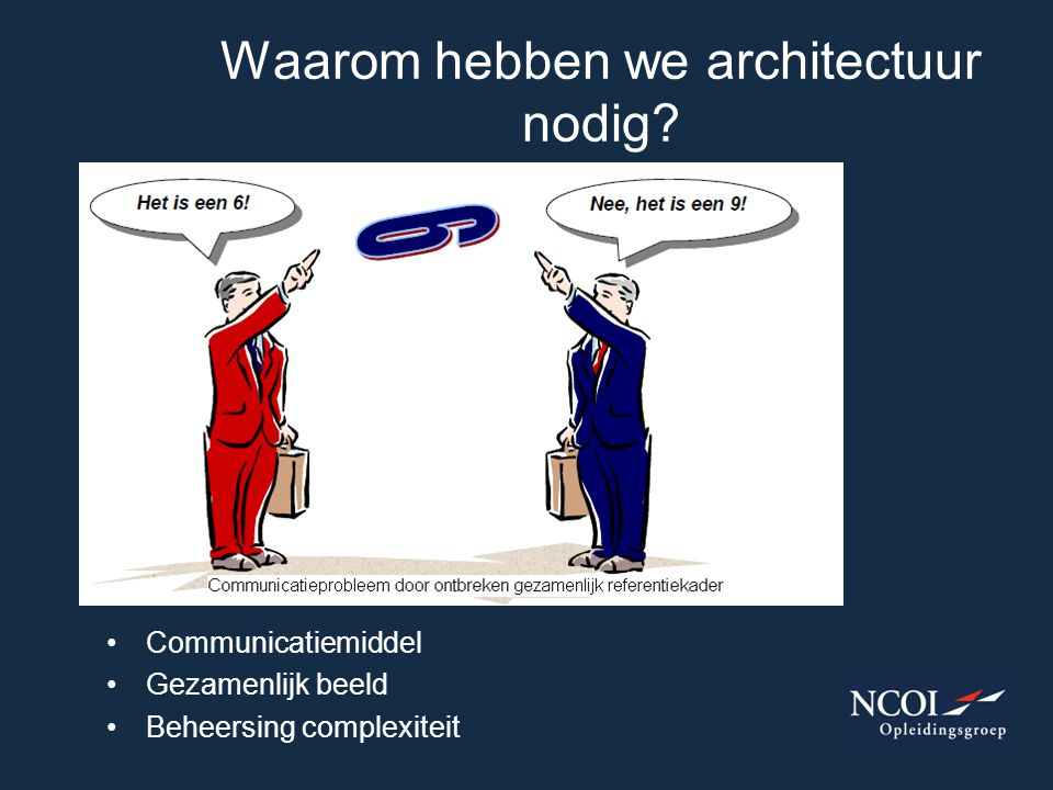Waarom hebben we architectuur nodig