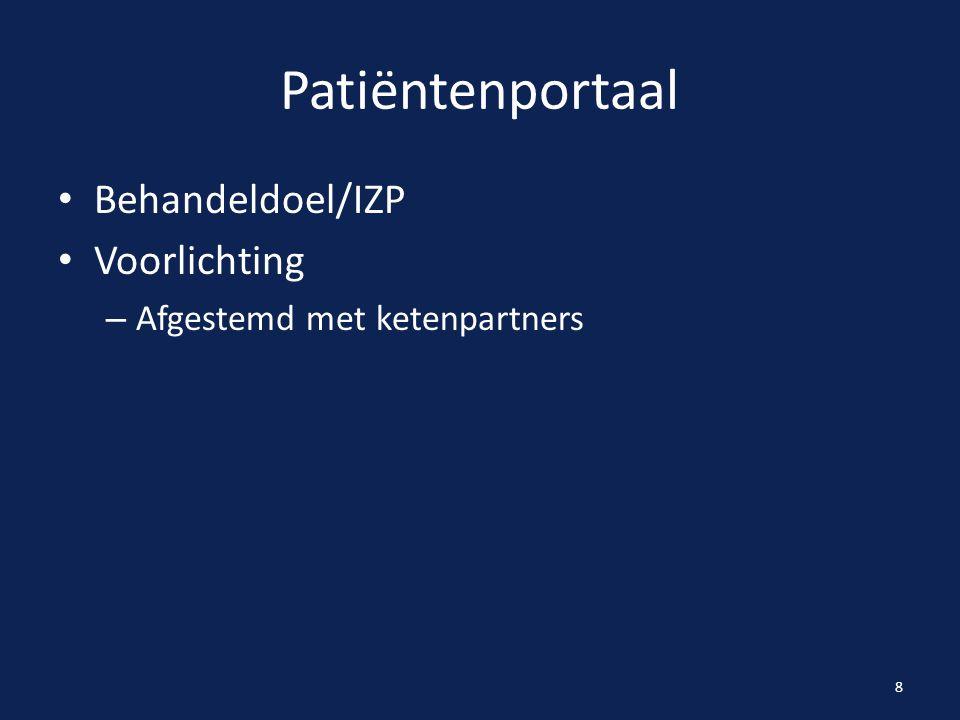Patiëntenportaal Behandeldoel/IZP Voorlichting