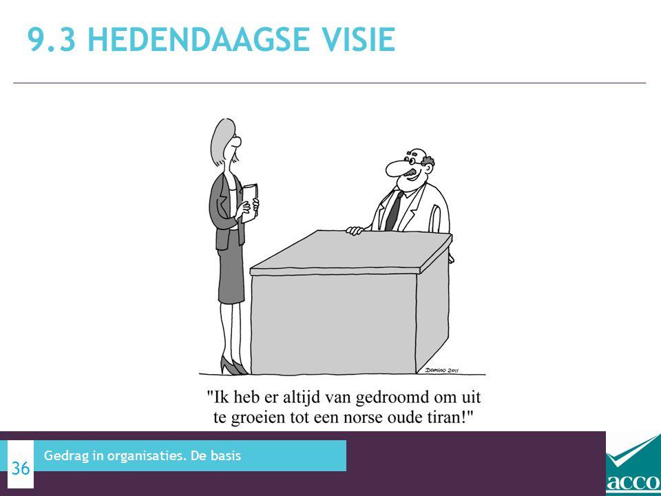 9.3 Hedendaagse visie Gedrag in organisaties. De basis