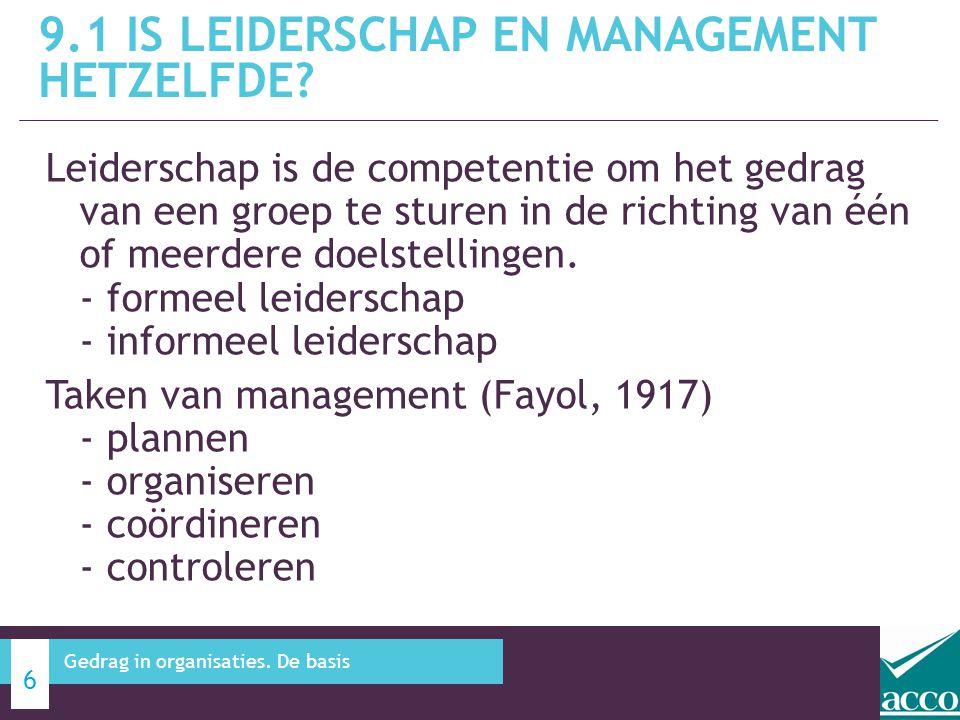 9.1 IS leiderschap en management hetzelfde