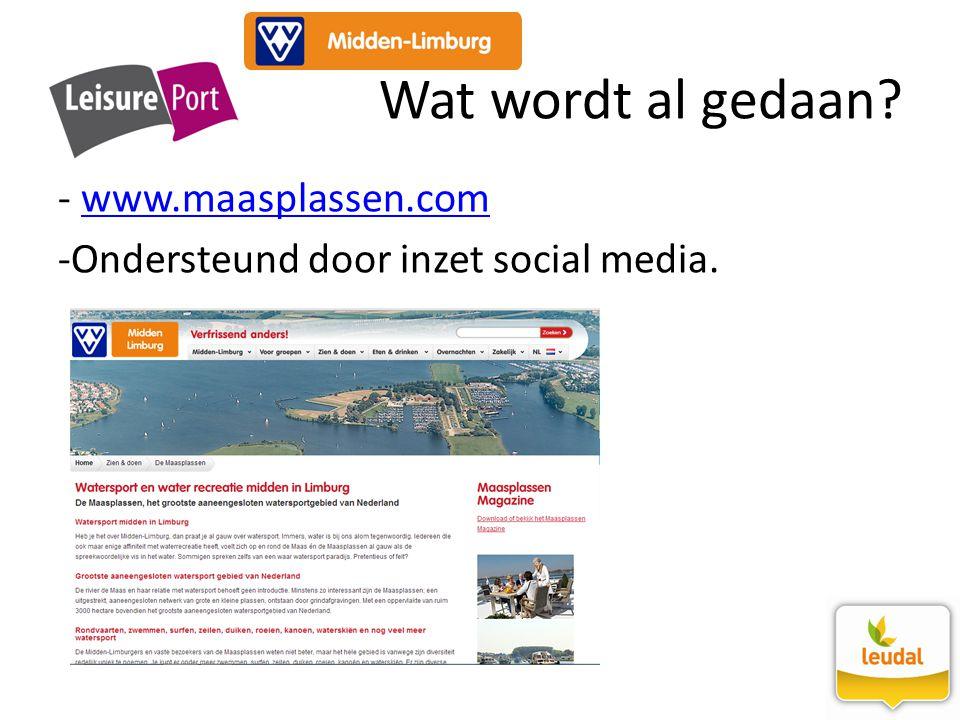 Wat wordt al gedaan www.maasplassen.com