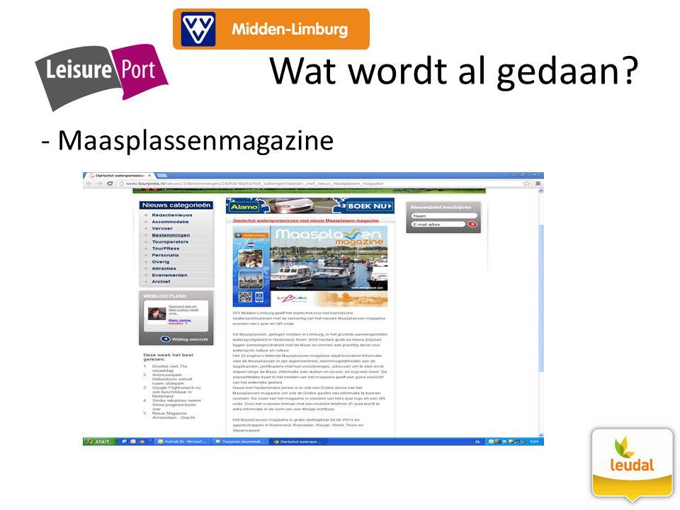 Wat wordt al gedaan Maasplassenmagazine