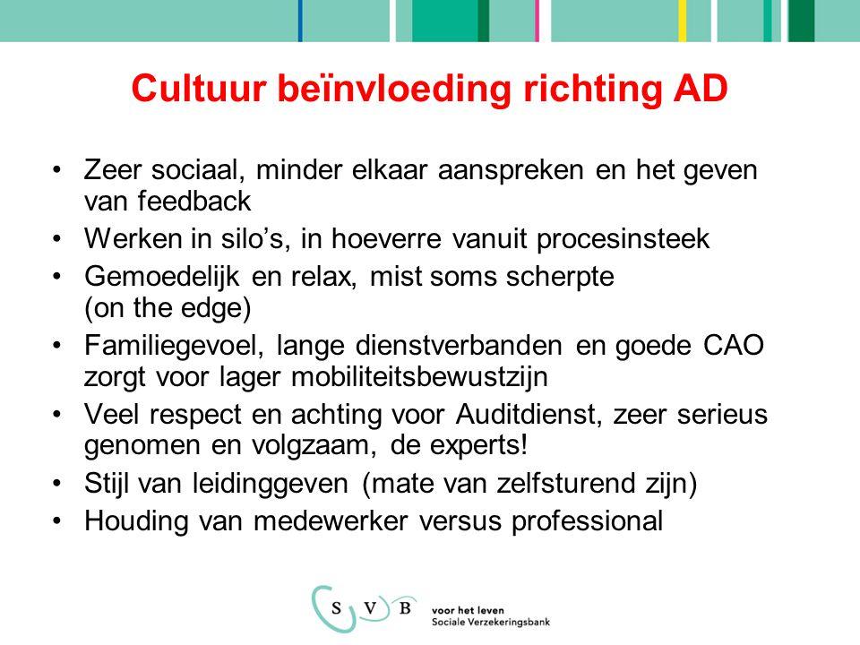 Cultuur beïnvloeding richting AD