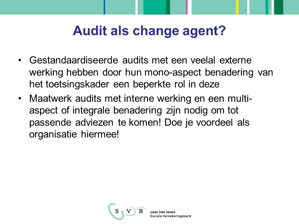 Audit als change agent