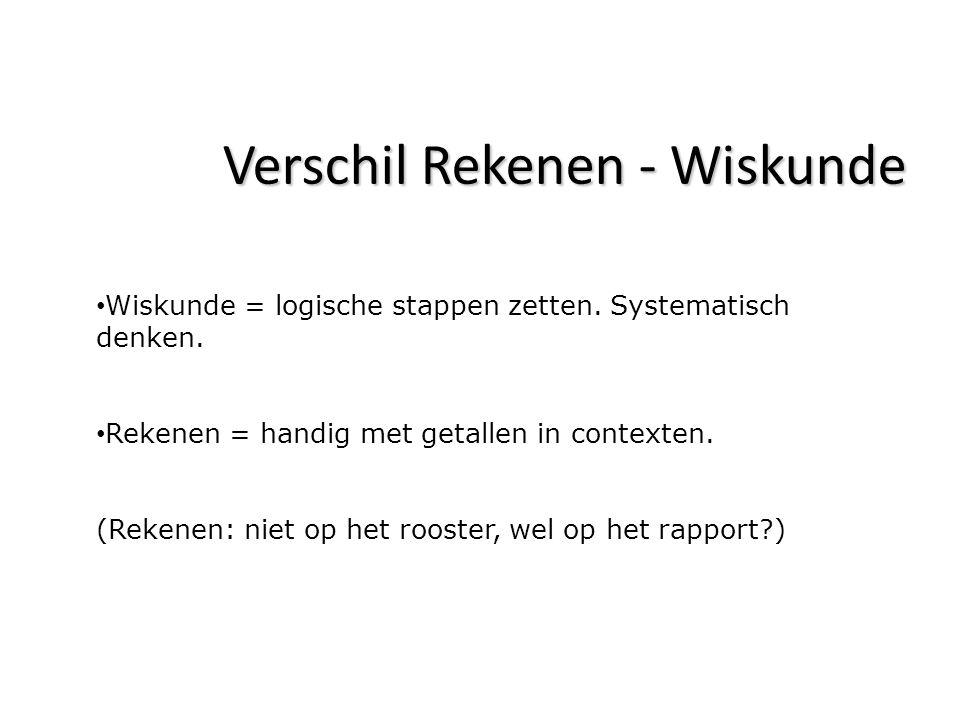 Verschil Rekenen - Wiskunde