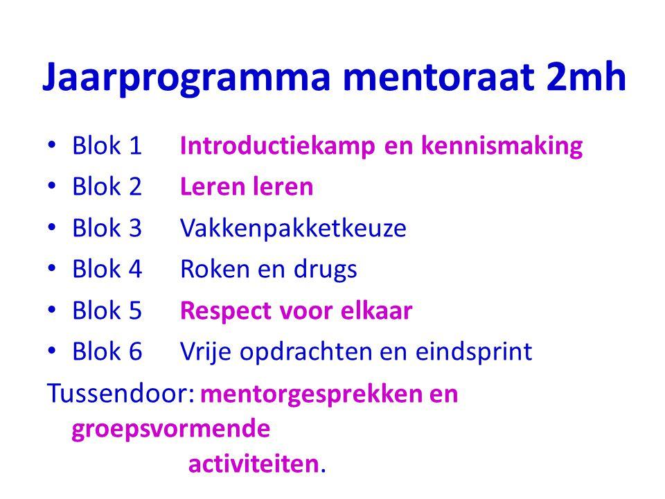 Jaarprogramma mentoraat 2mh