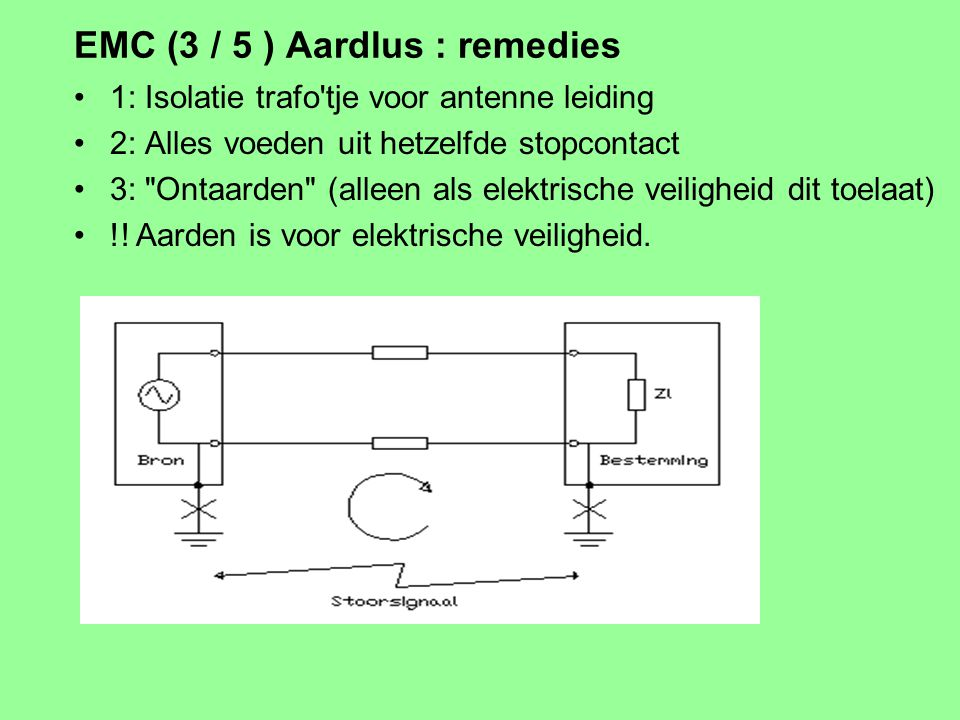 EMC (3 / 5 ) Aardlus : remedies