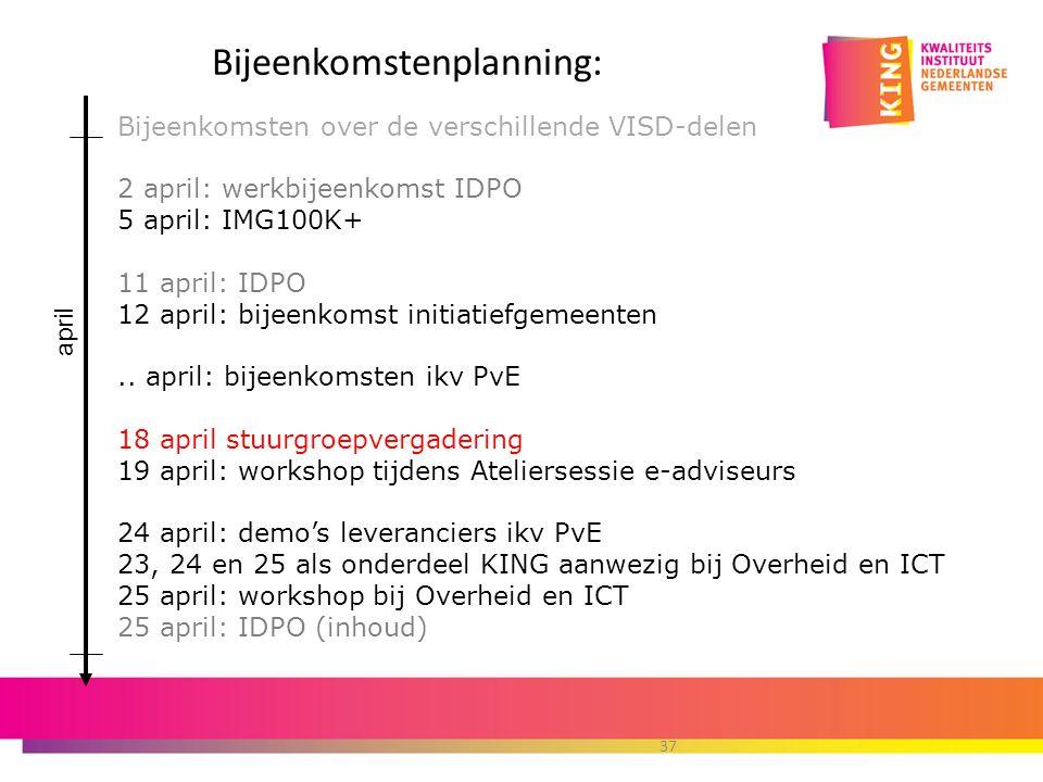 Bijeenkomstenplanning: