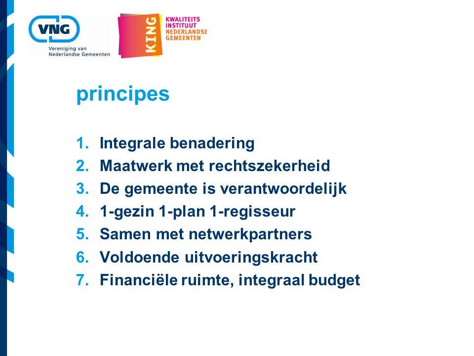 principes Integrale benadering Maatwerk met rechtszekerheid