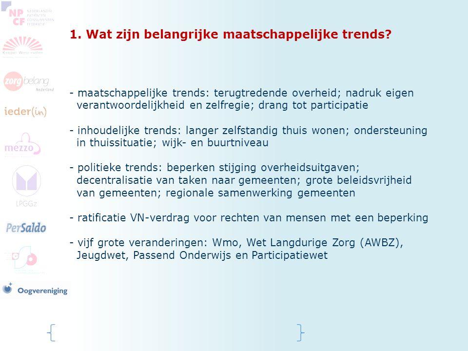 1. Wat zijn belangrijke maatschappelijke trends