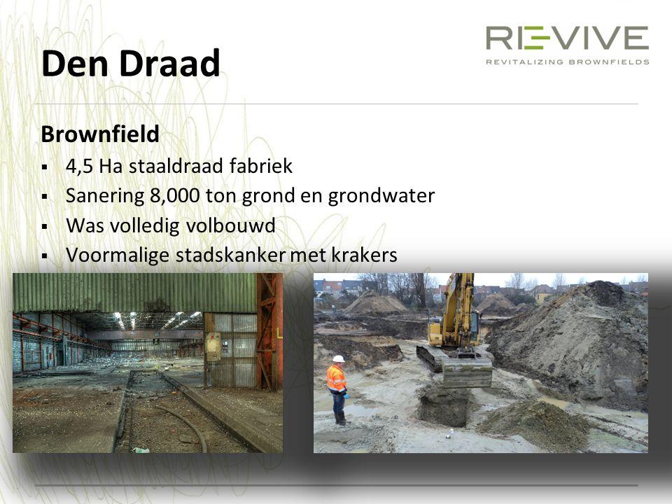 Den Draad Brownfield 4,5 Ha staaldraad fabriek