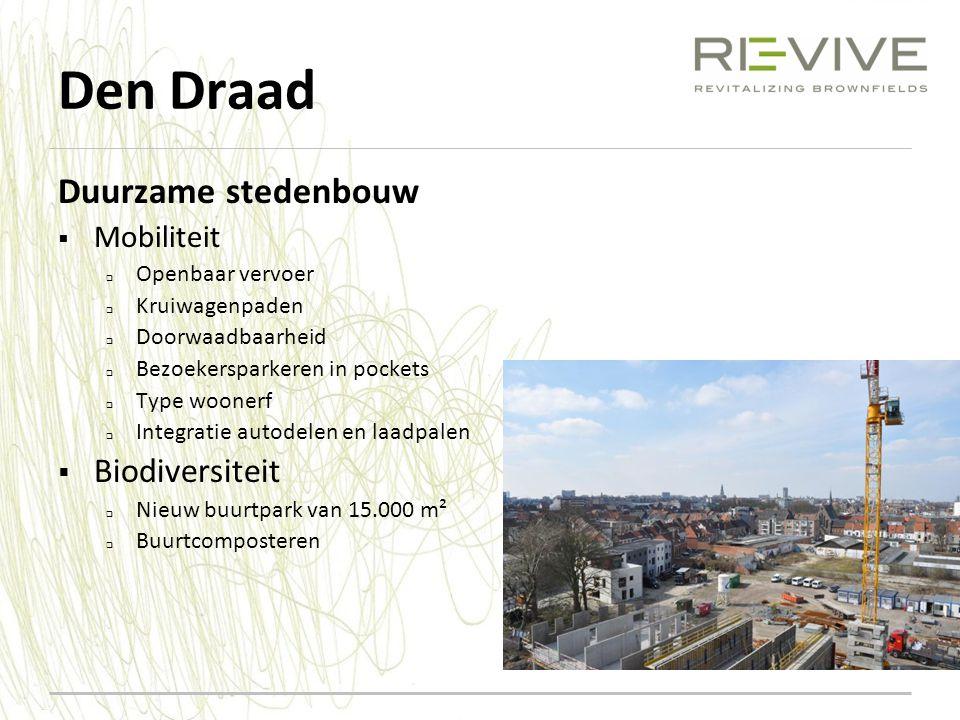 Den Draad Duurzame stedenbouw Biodiversiteit Mobiliteit