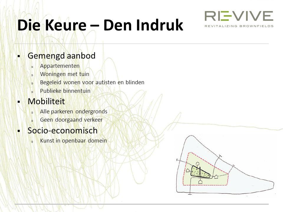 Die Keure – Den Indruk Gemengd aanbod Mobiliteit Socio-economisch