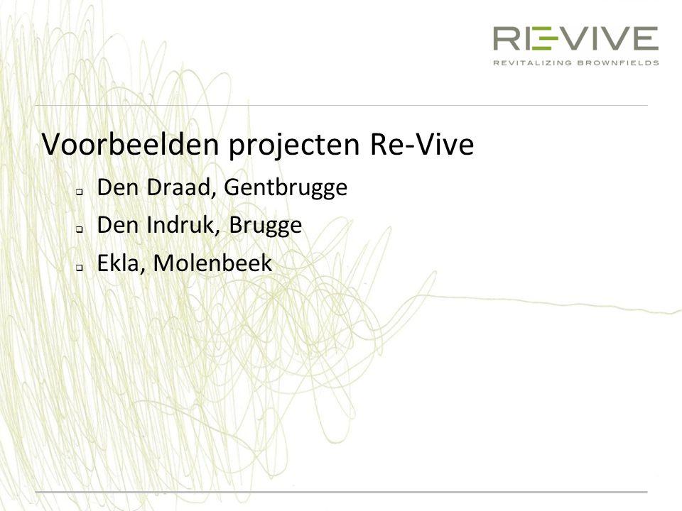 Voorbeelden projecten Re-Vive