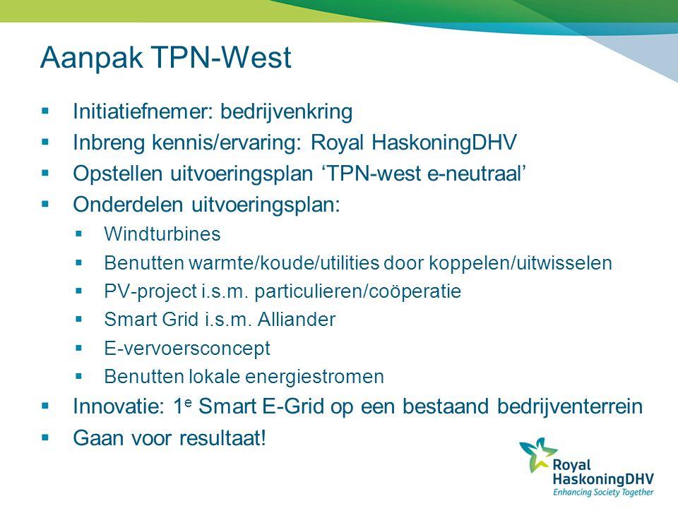 Aanpak TPN-West Initiatiefnemer: bedrijvenkring