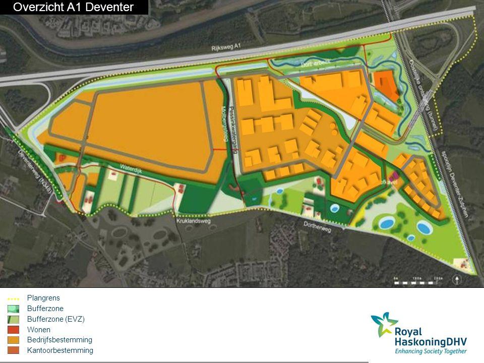 Overzicht A1 Deventer Plangrens Bufferzone Bufferzone (EVZ) Wonen